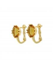 Oryginalne złote kolczyki z zultanitem