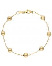 Bardzo ładna złota bransoletka z kulkami