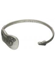 Sztywna srebrna bransoleta w kształcie gitary