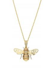 Ekskluzywna złota zawieszka mała mucha