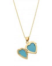 Złota zawieszka puzderko w kształcie serca