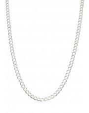 Srebrny łańcuszek pancerka 50 cm