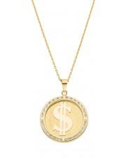 Oryginalna złota zawieszka dolar