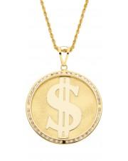 Oryginalna duża złota zawieszka dolar