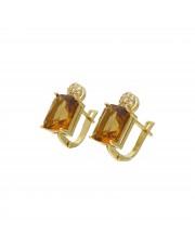 Złote kolczyki z zultanitem sultanitem