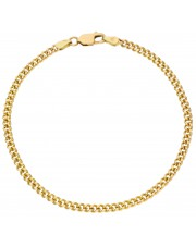 Klasyczna złota bransoleta pancerka